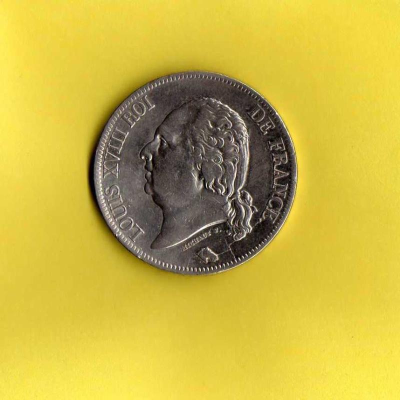 5 francs louis XVIII  Louis_12
