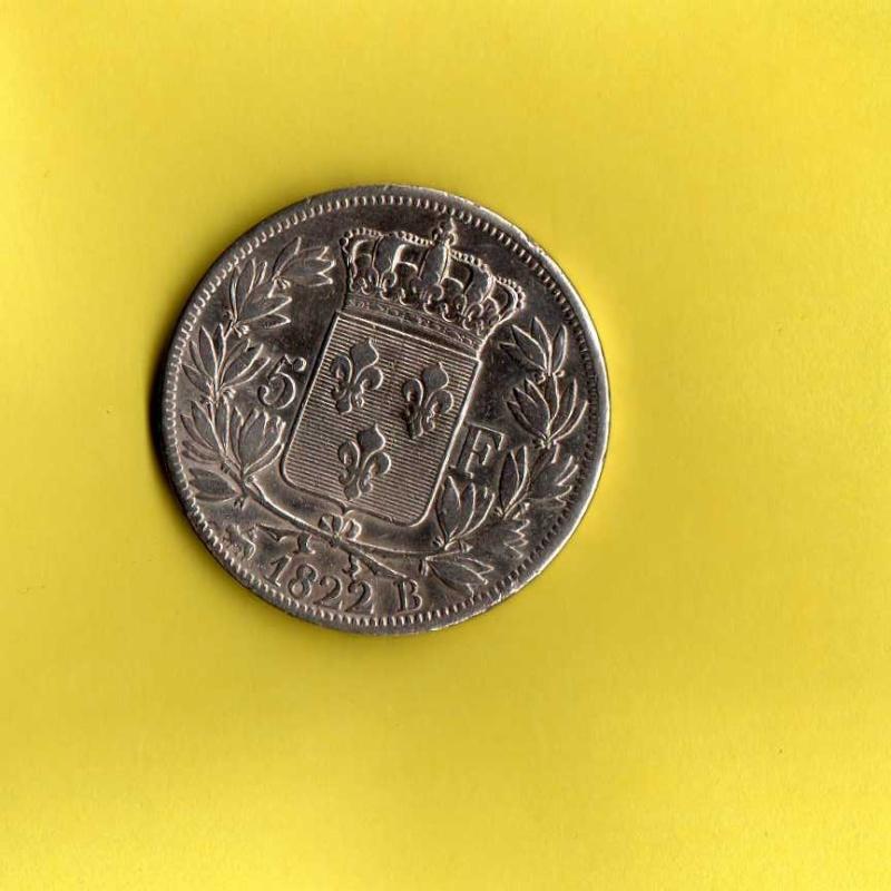 5 francs louis XVIII  Louis_13