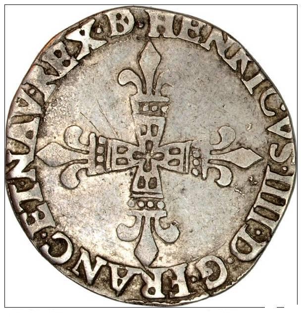 Quart d'écu Henri IV moorlas Quart_17