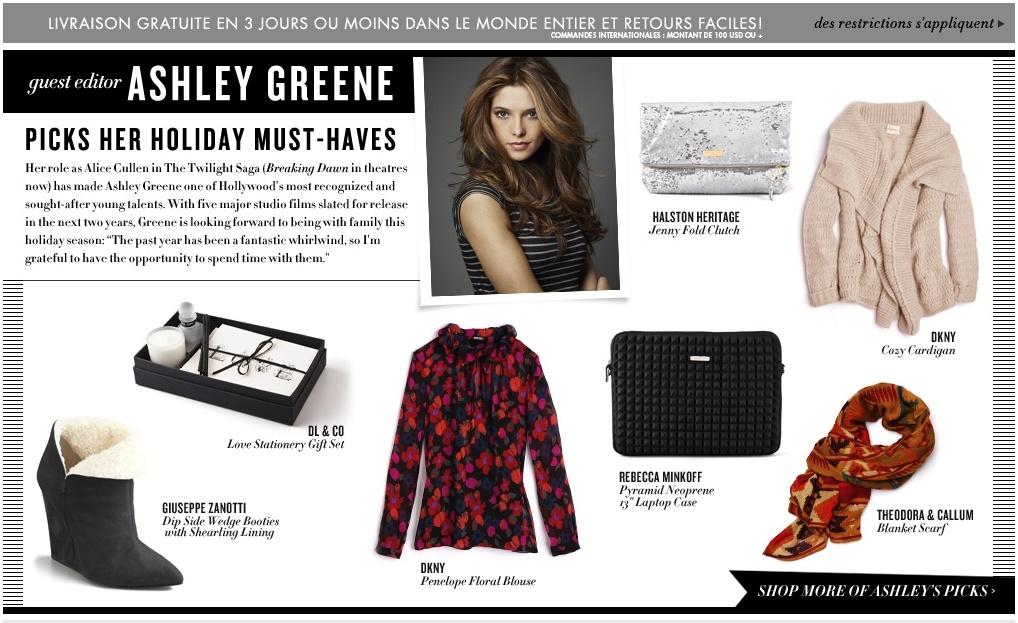 Ashley Greene sur Shopbop.com. Sans_t10