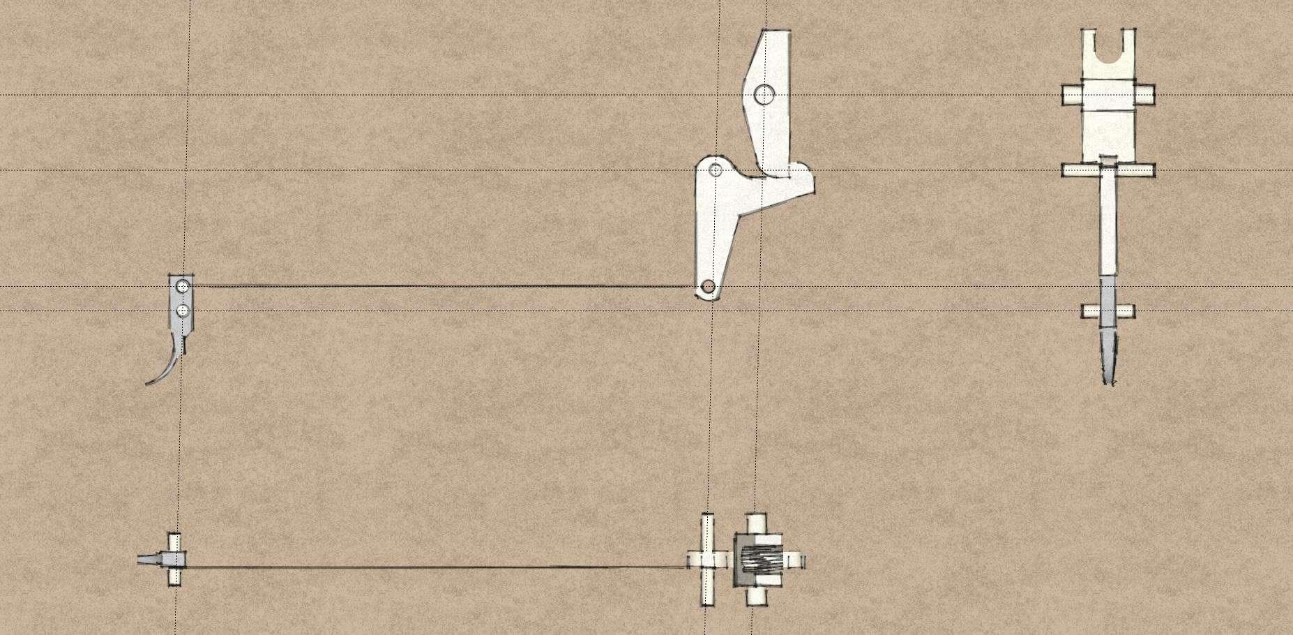 [Pistol Crossbow] Trigger design Bullpu10
