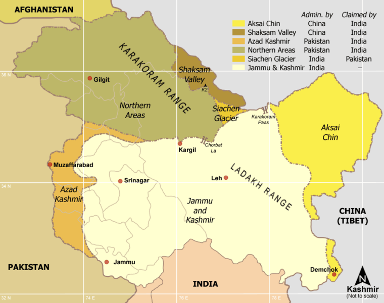 Géopolitique la région du Cachemire 760px-10