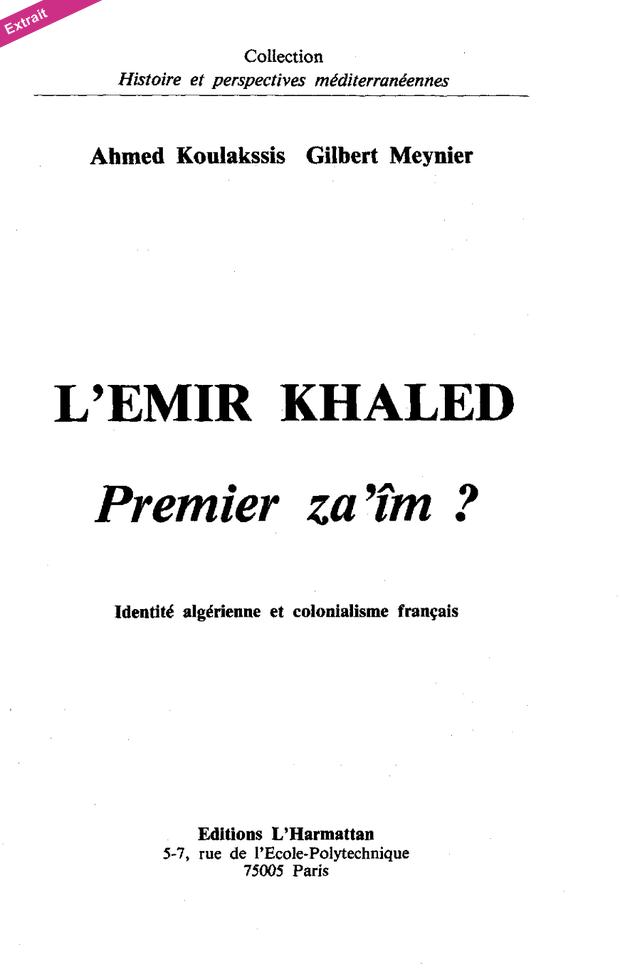 Emir Khaled el-Hassani ben el-Hachemi Page_110