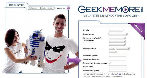 GeekMeMore : LE 1er SITE DE RENCONTRE 100% GEEK Geekme10