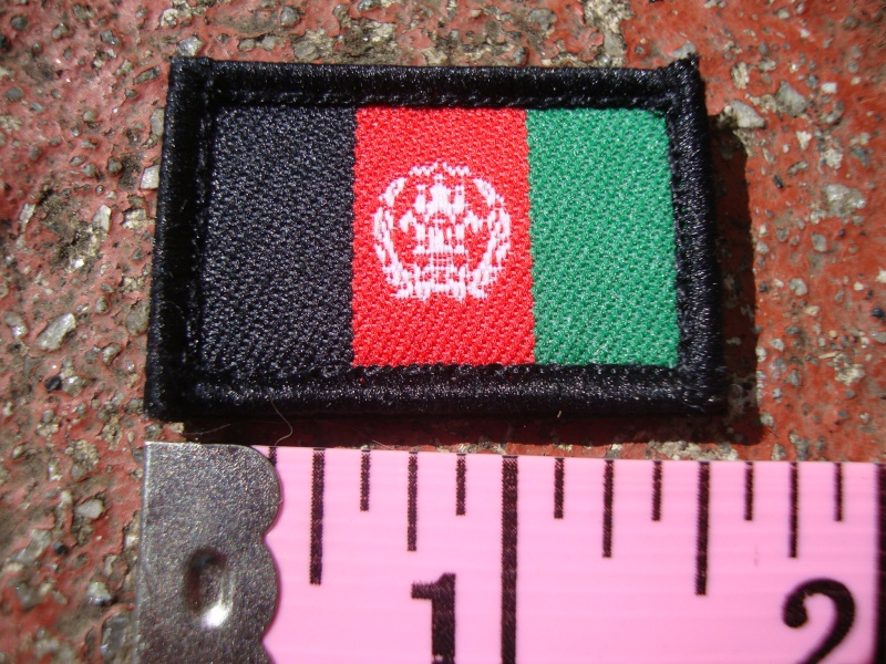Some Afghanistan Flag Patches Dsc03963