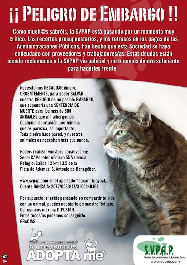 ¡Aviso! La Sociedad Valenciana Protectora de Animales y Plantas al borde del embargo Svpap_11