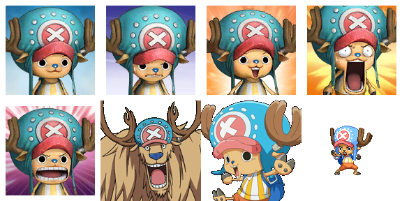 ONE PIECE Characters Faceset MEGA PACK Choppe10