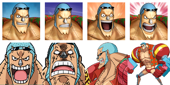ONE PIECE Characters Faceset MEGA PACK Franky10