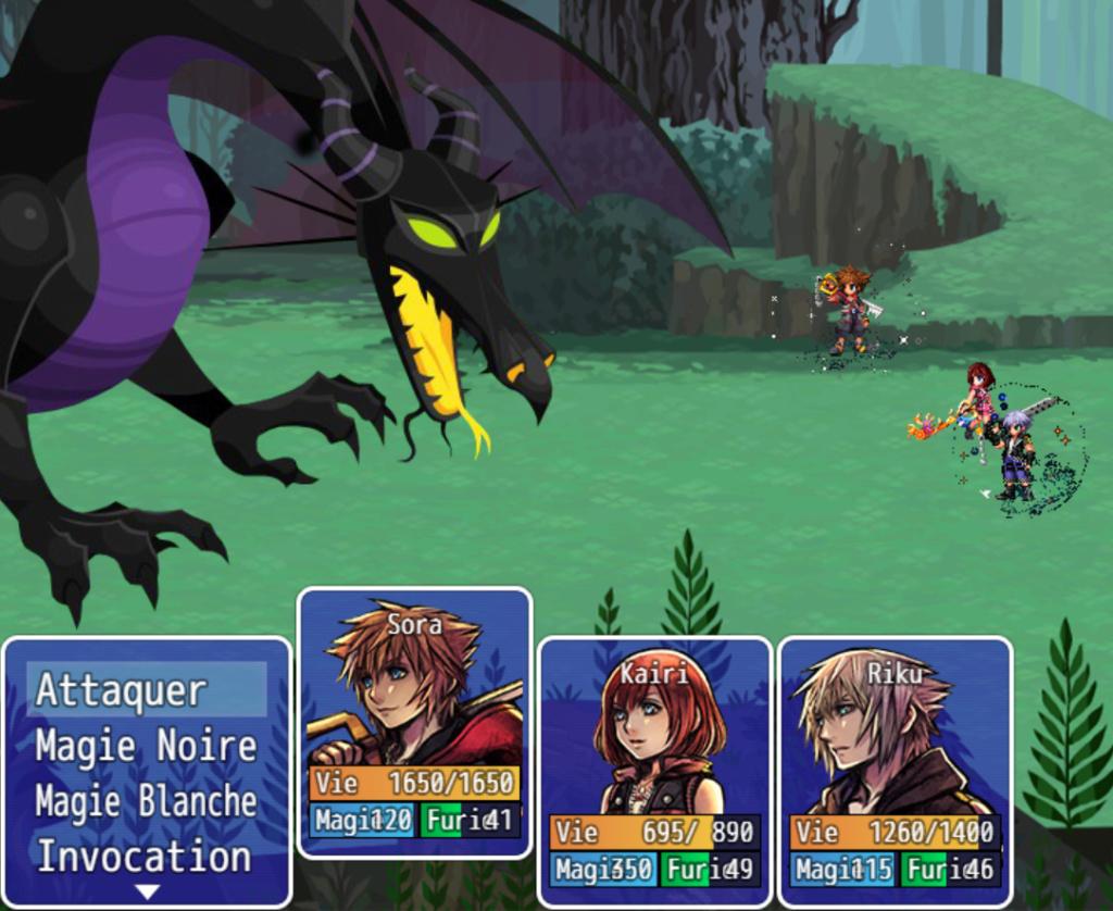 Kingdom Hearts 3   Chara (pixel art) battlers ( rip FF Brave exvius ) Face Image_10
