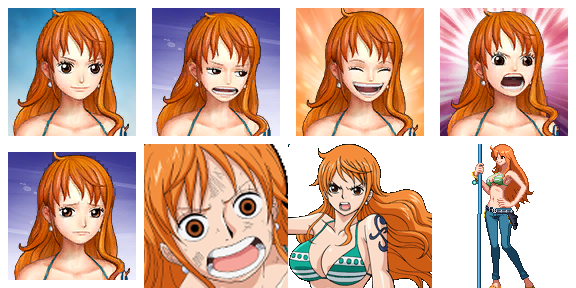 ONE PIECE Characters Faceset MEGA PACK Namifa10