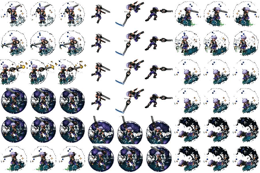 Kingdom Hearts 3   Chara (pixel art) battlers ( rip FF Brave exvius ) Face Riku_k10