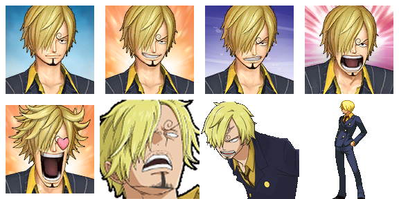 ONE PIECE Characters Faceset MEGA PACK Sanjif10