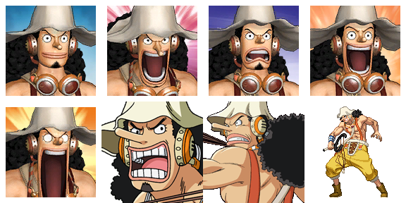 ONE PIECE Characters Faceset MEGA PACK Usoopf11
