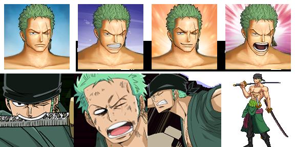 ONE PIECE Characters Faceset MEGA PACK Zorofa12