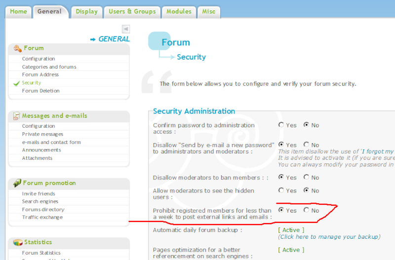Let members allow post links or emails? 92710