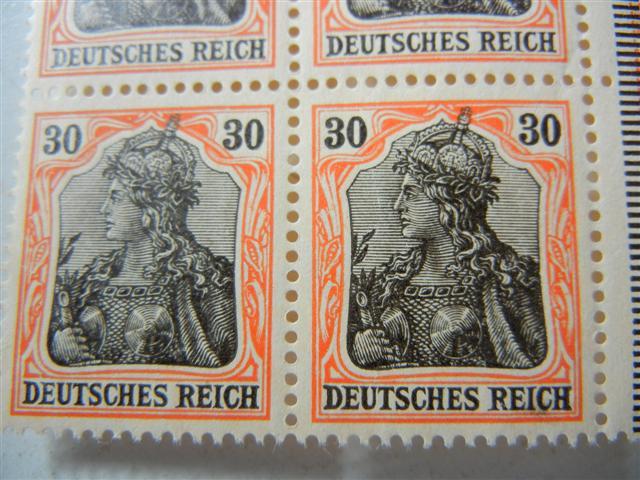 Germania 30 Pfennig Streifen A_058_10