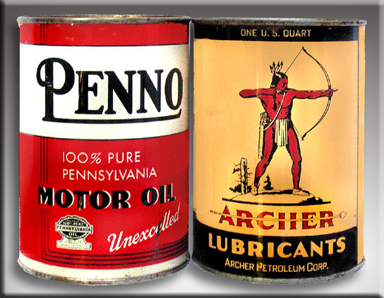 PENNO & ARCHER FULL MOTOR OIL TINS 86-17810