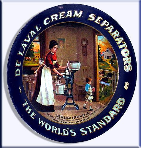 tres rare DELAVAL CREAM SEPARATORS TIP TRAY 1906  86-6110