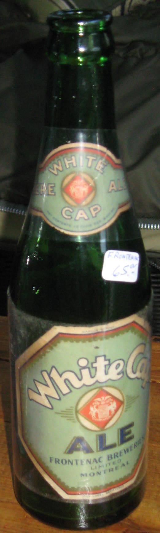 info bouteille de biere  white cap frontenac Boutei16