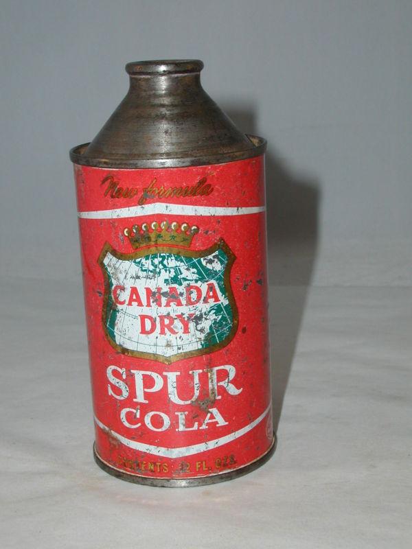 canada dry spur cola cone top can  Canada10