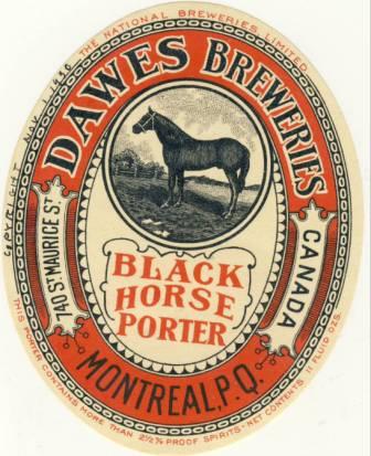 etiquette dawes  et dawes black horse  Dawes310