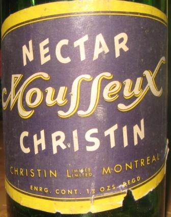 bouteille avec etiquette christin nectar mousseux Img_2111