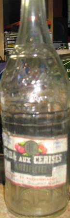 bouteille fortier etiquette  soda aux cerises  Img_2920