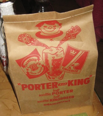 6 pack porter a la king ,moitie porter  champlain, moitie kingsbeer  dow  Img_3419