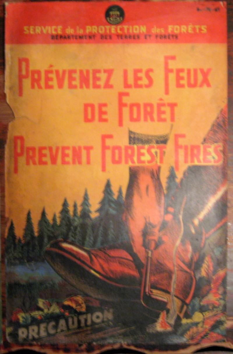 protection de la foret  affiche ancienne  Img_3517