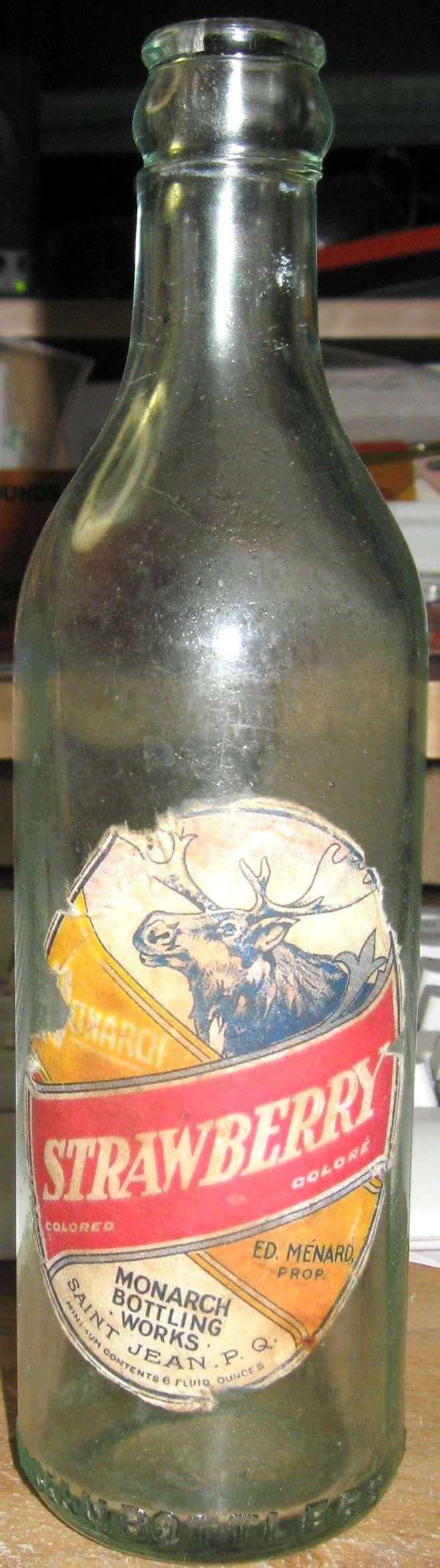 monarch bottling works saint jean  ginger ale label Img_3518