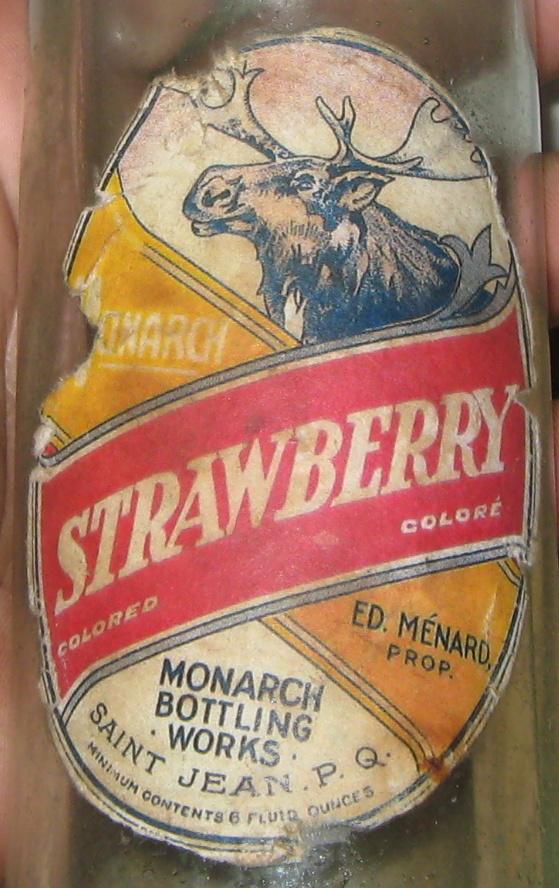 monarch bottling works saint jean  ginger ale label Img_3519