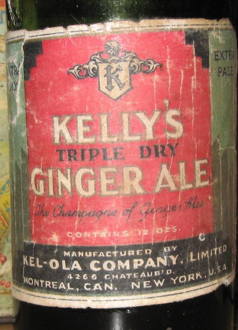 kelly`s triple dry  ginger ale  kel-ola  montreal  Img_3618