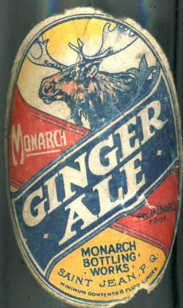 monarch bottling works saint jean  ginger ale label Monarc12