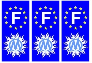 Autocollants pour Plaque d'immatriculation Marsei10