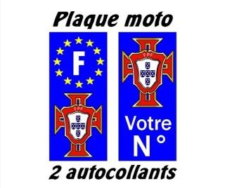 Autocollants pour Plaque d'immatriculation Portug10