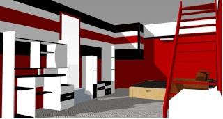 Stunning Chambre Mur Rouge Et Noir Contemporary - House Design ...