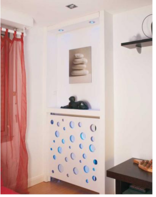 cacher un radiateur. Black Bedroom Furniture Sets. Home Design Ideas