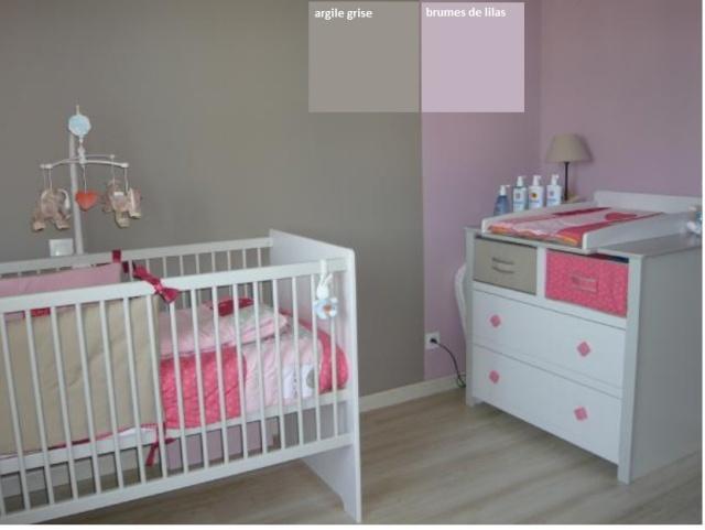 Chambre Bebe Fille Gris Et Mauve