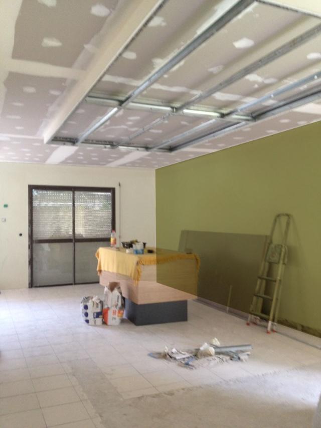 peintures pour un salon et une cuisine avec un sol gris anthracite Vert_c11