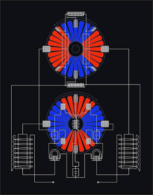 Статика, Электростатическая машина Wimhurst 3610