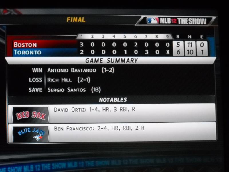 The Toronto Blue Jays Franchise --- MLB 12: The Show Dscn3324
