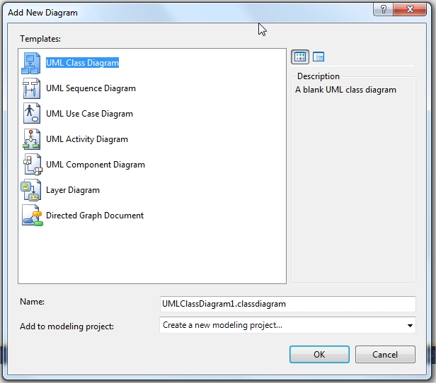 Tạo UML trên Visual Studio Prtscr16