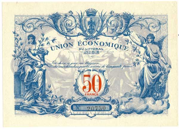 1,5 et 10 Francs Union économique oranaise et algérienne  Algérie  7732a11