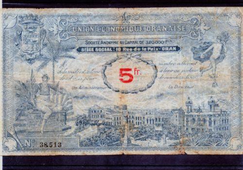 1,5 et 10 Francs Union économique oranaise et algérienne  Algérie  Kgrhqn11