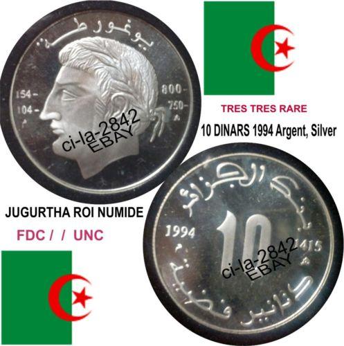Faite vite 10 Dinars roi Numide Jugurtha 1994 à vendre  Kgrhqr11