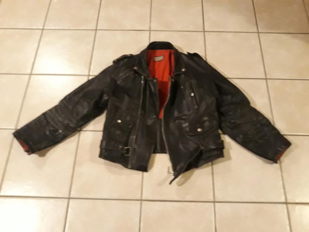 Perfecto ancien cuir épais très bon état noir 20190410