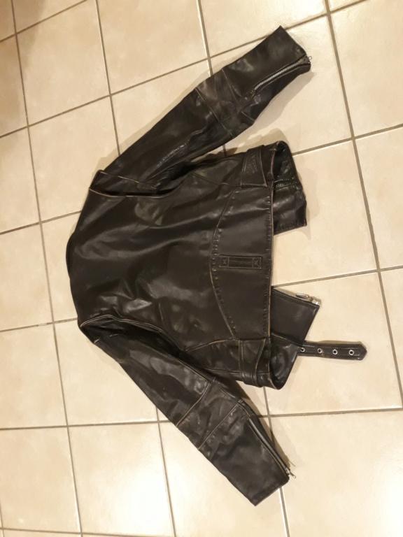 Perfecto ancien cuir épais très bon état noir 20190412
