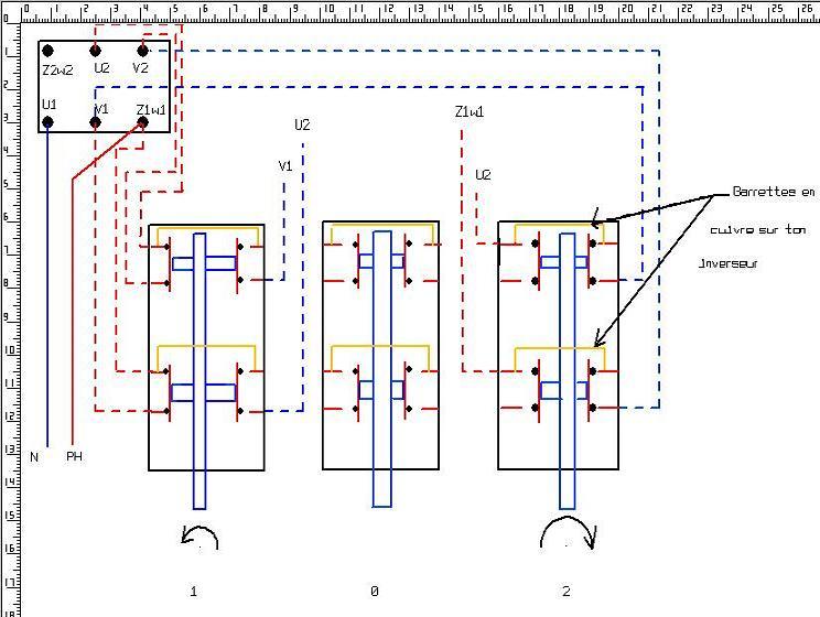 bonjour je voudrais avoir un schema pour brancher un moteur 220V mono avec duex sens de rotation Sc11
