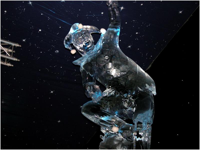 Sculpture sur glace à Bruges 04-01-11