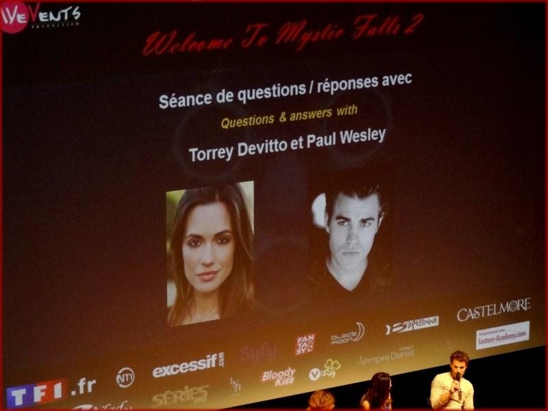 Welcome To Mystic Falls / Séance de Questions-Réponses avec PAUL WESLEY & TORREY DEVITTO Dsc00112